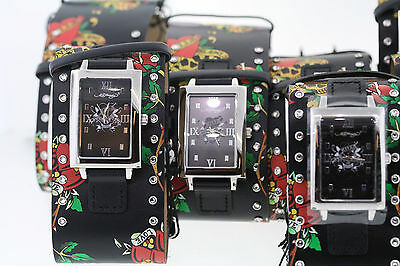Wholesale Lot of 10 Ed Hardy TT-BLK Love Kills Slowly Watches Need Batteries