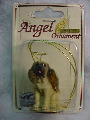 MASTIFF dog ANGEL Ornament HAND PAINTED Resin Figurine NEW Christmas puppy NEW