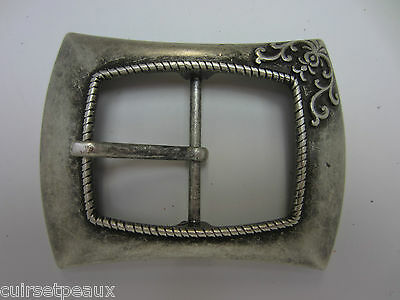 Belt Buckle Metal 38 Mm Silver Old Fashioned Style Medieval