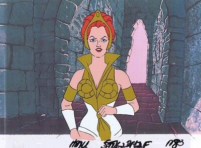 He-Man Masters of the Universe Original Production Cel & Copy Background #A1080