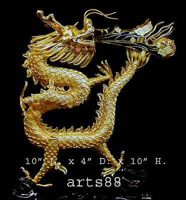 Chinese Enamel Dragon Statue - Year of the Dragon 2012