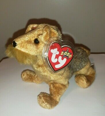 Ty Beanie Baby ~ WHISKERS the Dog ~ MINT with MINT TAGS ~ RETIRED