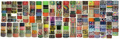DUCT TAPE* Decorated Designs KRAFT+SCOTCH+PLAID DUCK+ Packing *YOU CHOOSE* 1a