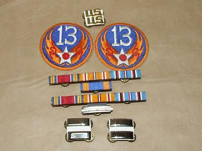 Lot of Vintage Military Embroidered Patches Bar Racks & Pin Backs