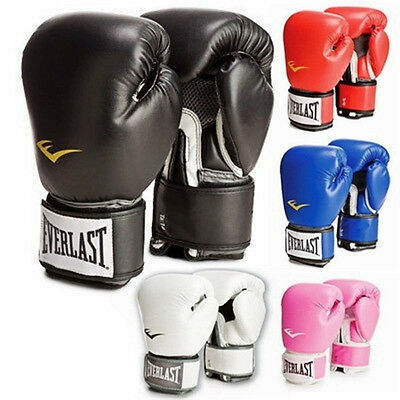 6 Colors Everlast Style Combat Fighting Boxing Training Breathable Gloves