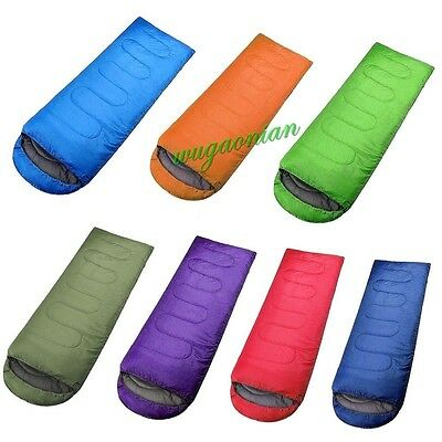 3 Season Waterproof Outdoors Camping Hiking Single Adult Envelope Sleeping Bag