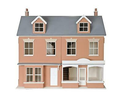 1:12 Scale Double Welsh Terrace Dolls House & Shop MDF Wood Flat Pack Kit
