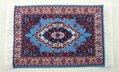 Dolls House Miniature Accessory Victorian Turkish Woven Fabric Rug Carpet E