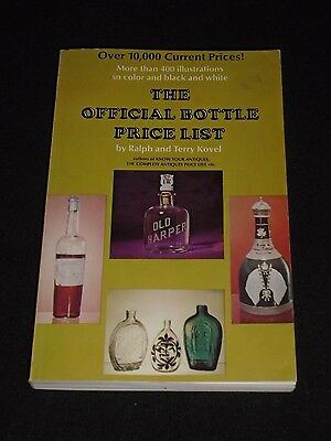 Vintage The Official Bottle Price List By Ralph & Terry Kovel 1971