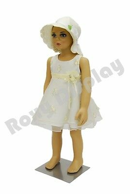 Children Kids Plastic Mannequin Manikin Display #PS-KD-1+ Free Wig