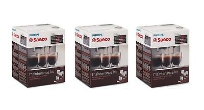 Saeco CA6706 Maintenance Kit w/ Decalcifier, Water Filter Cartridge (3 Pack ) NE