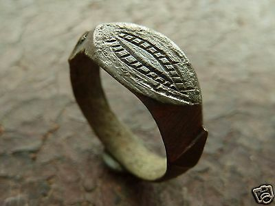 Medieval bronze ring (437).