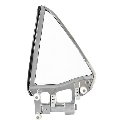 67 68 Ford Mustang Quarter Window Complete Assembly, Coupe, Clear Glass, Left