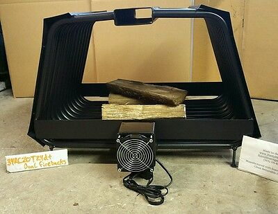 RC Rib Cage Double Sided Fireplace Grate Wood Rack Heater Blower Fireback Insert