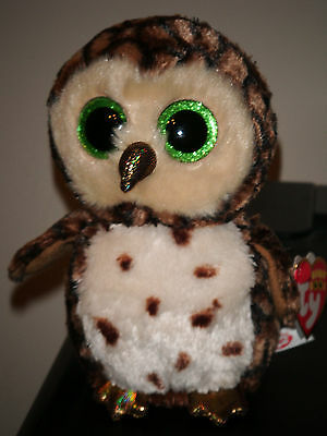 Sammy The Brown Owl Ty Beanie Boos  Brand New