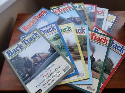 Lot of 12 BACK TRACK Railway magazines 1998 historical railway monthly