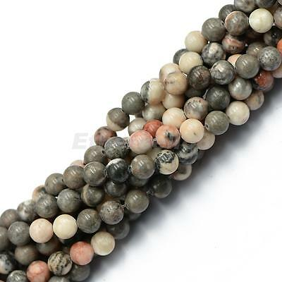 """8mm Natural Round Beads Gemstone Loose Beads Strand 15"""" for Jewelry Making"""