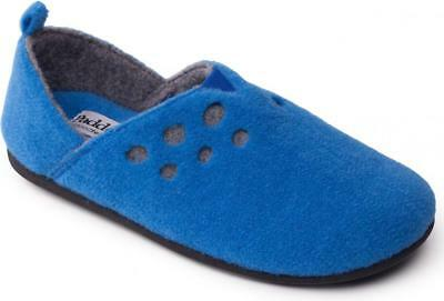 Padders RIVA Ladies Womens Felt Wide Fit Slip On Full Comfort Slippers Denim