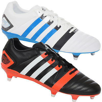 adidas Performance Mens FF80 Pro XTRX Soft Ground II Rugby Boots - White / Black