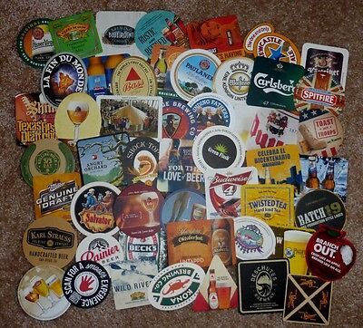 50 different, Beer Coasters from Various Breweries - All New