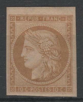 """FRANCE STAMP TIMBRE N° 1f """" CERES 10c BISTRE- JAUNE 1862 """" NEUF x TB  N913"""
