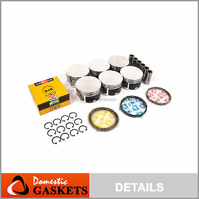 02-10 Dodge Ram 1500 Durango Dakota Jeep Liberty 3.7L Piston & Rings Set VIN K