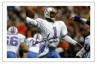 Warren Moon Houston Oilers Signed Photo Autograph Print Nfl Football