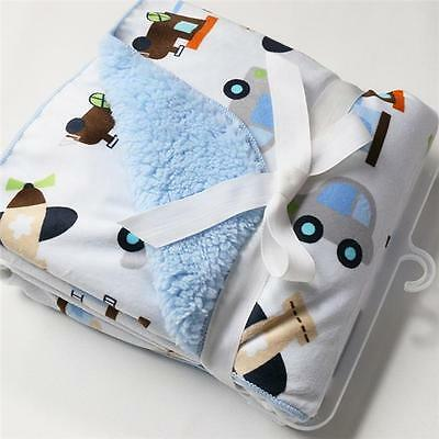 New Baby Newborn Warm Waddle Blanket Swaddling Wrap Soft Fleece Sleeping Bags W
