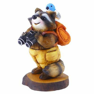 BIRDWATCHER RACCOON by Wee Forest Folk, WFF# RC-3s, Forget-Me-Not Series, LTD