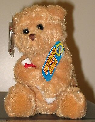 Ty Beanie Baby BB 2.0 ~ SCHOLARS the Graduation Bear (No Hat Version) ~ MINT