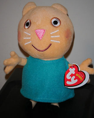 Ty Beanie Baby ~ CANDY CAT ~ UK Exclusive ~ Peppa Pig ~ MINT with MINT TAGS ~NEW