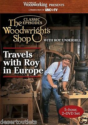 The Woodwright's Shop - Travels with Roy in Europe - Roy Underhill - 2-DVD Set