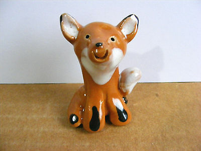 Little Guys Fox Tail To Side Miniature Animal Figurine Cindy Pacileo Pottery