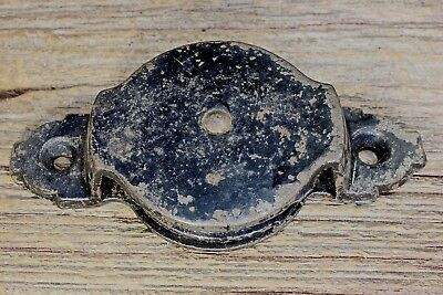 "side pulley 2"" wheel cast Iron vintage 1880's rustic black paint old barn"