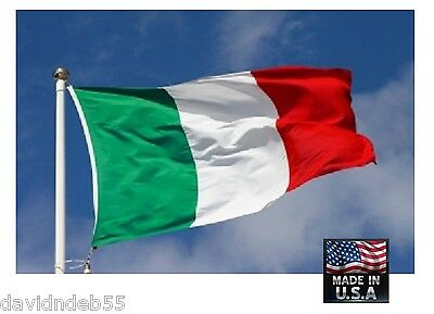 3x5 ft ITALY ITALIAN Heavy Duty In/outdoor Super-Poly FLAG BANNER Flags*USA MADE