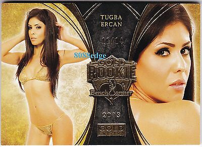2013 Benchwarmer Gold Edition Rookie Card #gr18: Tugba Ercan #11/14 Tiger Woods