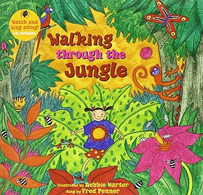 Walking through the Jungle (A Barefoot Singalong) New Paperback Book Stella Blac