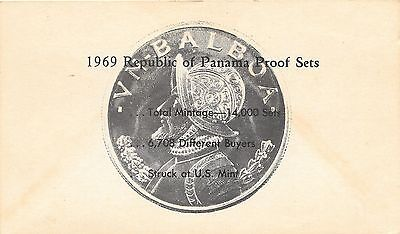 1969 Panama 6 Coin Single Page C.O.A. Document Set~Free Shipping