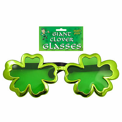 St Patrick's Day Giant Shamrock Clover Glasses - Party Dress Up