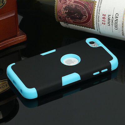 For Apple iPod Touch 6th 5th Hybrid Rubber Protective Shockproof Hard Case Cover
