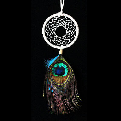 Dream Catcher Peacock Feathers Car Wall Hanging Decor Ornament Decoration Gift