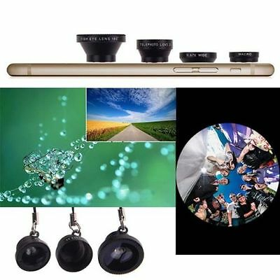 Magnetic 4in1 Fish Eye Wide Angle Micro Telephoto Lens Camera Kit for iPhone 6S
