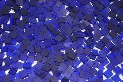 Mini Royal Blue Tumbled Stained Glass Mosaic Tiles Floral Vase Fillers