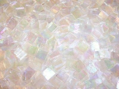 "100 1/2"" Clear Iridescent Stained Glass Mosaic Tiles"