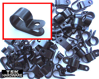 P - CLIPS 80 Pack .. 3mm, 6mm, 9mm, 12mm. For Hoses, Brake Pipes, Wiring Looms.