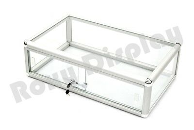 Glass Countertop Display Case Store Fixture Showcase with front lock #SC-KDFLAT