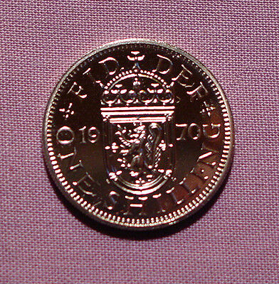 1970 ROYAL MINT PROOF SCOTTISH SHILLING - Last Ever Issued