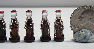 Dollhouse Miniature Soda Bottles Set of 6 1:12 1 inch Scale E73 Dollys Gallery