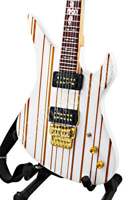 Miniature Guitar Synyster Gates AVENGED SEVENFOLD White & Strap