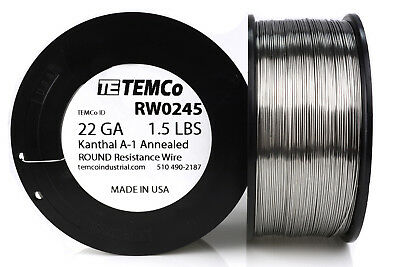 TEMCo Kanthal A1 wire 22 Gauge 1.5 lb (961 ft) Resistance AWG A-1 ga